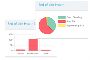 Screenshot of Lifecycle Insights End of Life Health graph for asset management