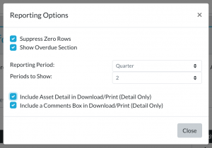 lifecycle insights qbr budget report options